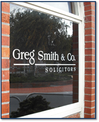 Greg Smith & Co Solicitors Window